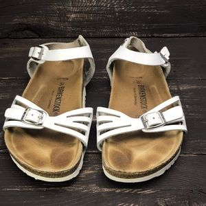 Birkenstock White Leather Sandals Size 5